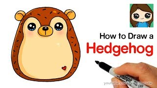 How to Draw a Hedgehog Easy | Squishmallow