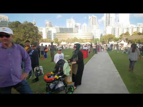 Sydney Video Walk 4K - Taste of Turkey Festival & Darling Harbour Spring 2017