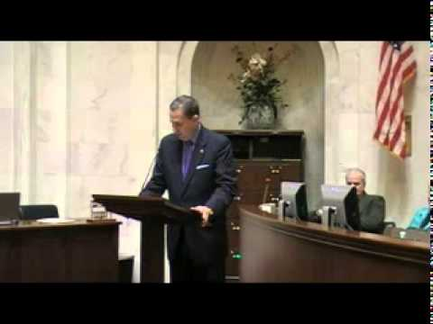 President Pro Tem Paul Bookout Addresses the Arkansas Senate