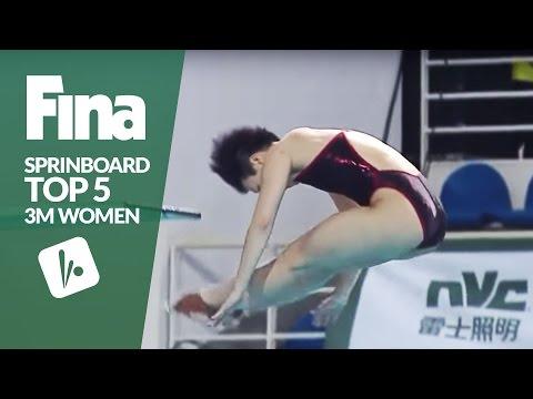 Top 5 - Women's 3m Final | FINA/NVC Diving World Series - Guangzhou 2017