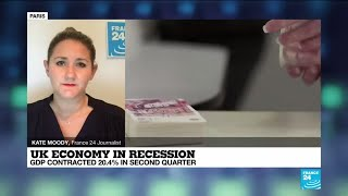 Covid-19 - UK economy in recession: Government warns of 'difficult and uncertain' recovery