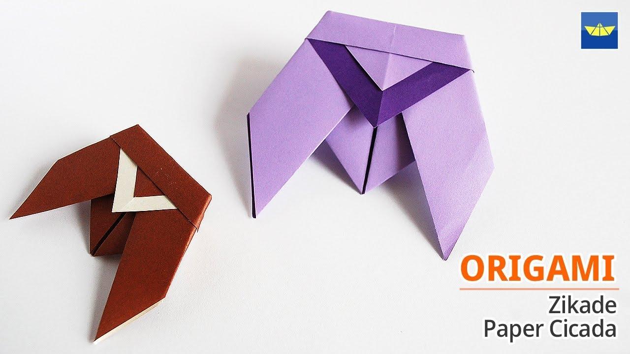 종이접기 Origami Zikade Origami Cicada Basteln Mit Papier