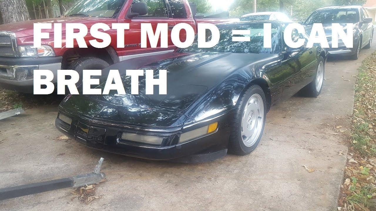 1991 C4 Corvette Airbox Mod - Homemade Ram Air