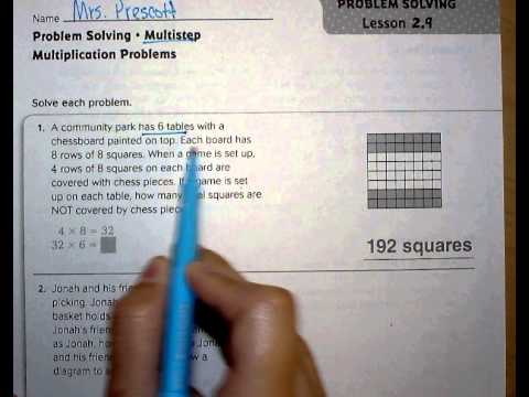 problem solving multistep multiplication problems lesson 2.9