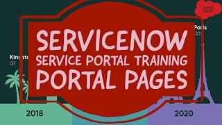 #8 ServiceNow Service Portal Training | Portal Pages