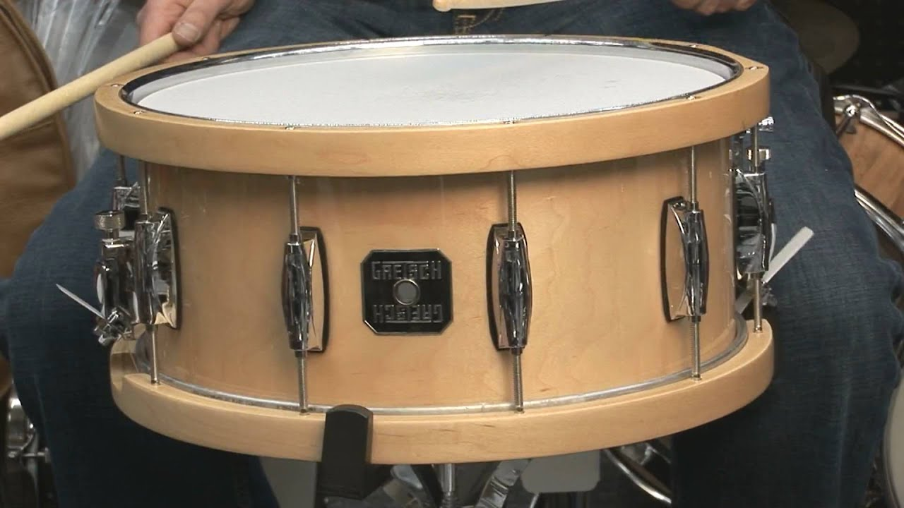 gretsch all maple snare drum with dunnett wood hoops youtube. Black Bedroom Furniture Sets. Home Design Ideas
