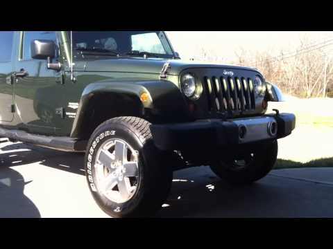 Jeep Wrangler Unlimited After Rough Country 2.5 Inch Lift Kit With RC Performance 2.2 Shocks