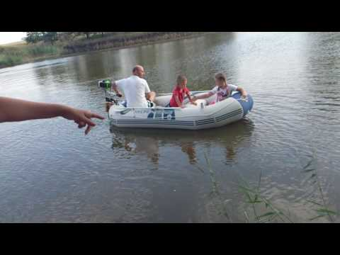 Testing The Boat Hydro Force With Trimmer Engine