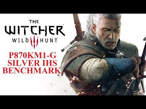 P870KM1-G Witcher 3 Gameplay Temps (Full Fans) Silver CPU Li
