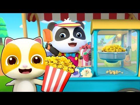 美味的爆米花 | 最新美食兒歌童謠 | 學習顏色卡通動畫 | 寶寶巴士 | 奇奇 | Learn Chinese | BabyBus
