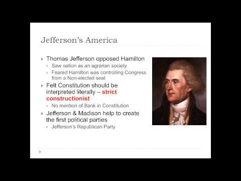 APUSH Lecture 7: George Washington's Administration 9/27/2013