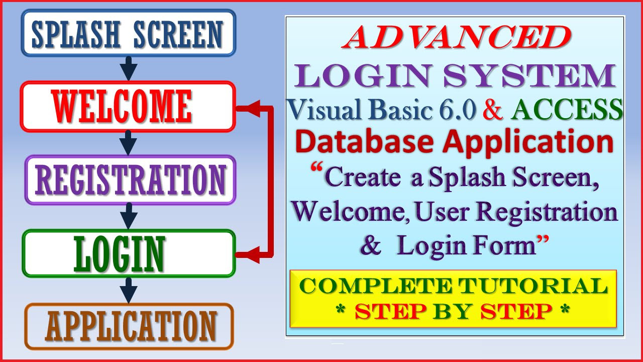 Advanced Login System using Visual Basic 6 0 and MS Access-Step by Step  Tutorial