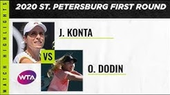 Johanna Konta vs. Oceane Dodin | 2020 St. Petersburg Second Round | WTA Highlights