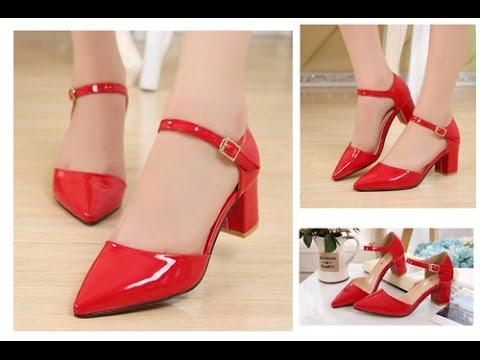 Top 100 Mẫu giày cao gót đế vuông đẹp thời trang cho các bạn nữ