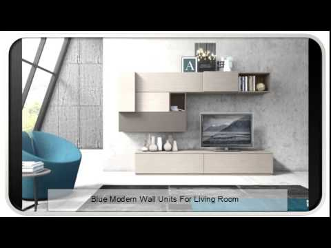 blue modern wall units for living room - youtube