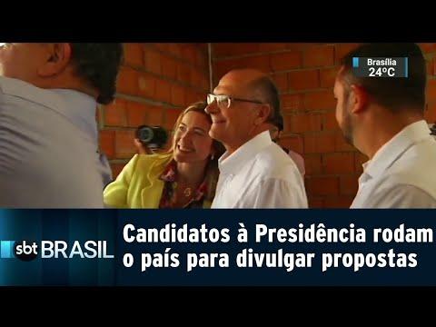 Candidatos à Presidência rodam o país para divulgar propostas | SBT Brasil (24/08/18)