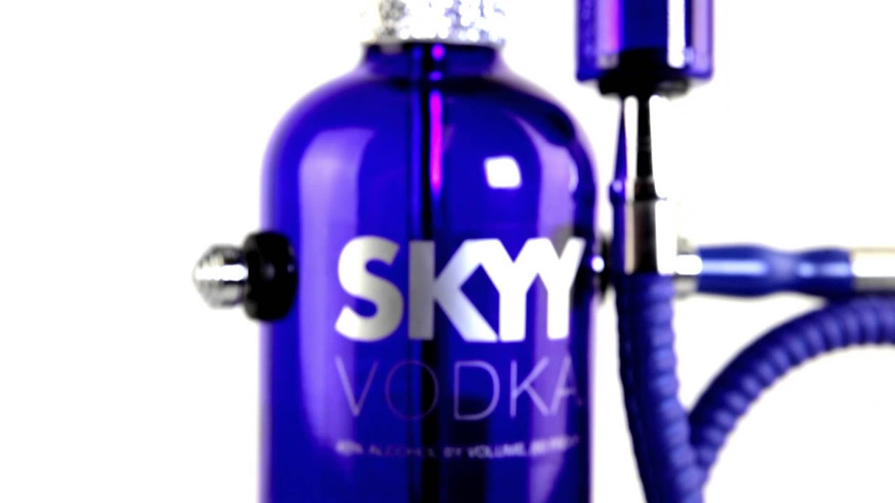 Store Ads Online >> Skyy Vodka custom liquor bottle hookah sisha waterpipe - YouTube