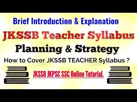 "How to Cover ""JKSSB Teacher Exam Syllabus"" | Brief Explanation of teacher syllabus 2018 !"