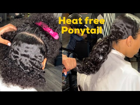 HOW TO: Easy Heat Free Ponytail