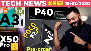 Is It POCO F2?,realme X50 Pro More Specs,Galaxy Z Flip Pre-order,Huawei P40,Mi A3 Android 10-#TTN652