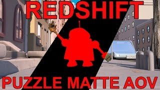 Redshift Exporting Puzzle Matte to Nuke Tutorial