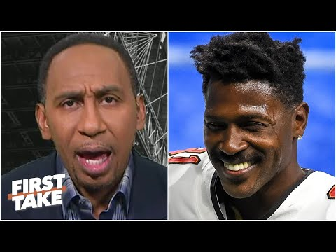 Stephen A. reacts to Antonio Brown re-signing with the Bucs | First Take