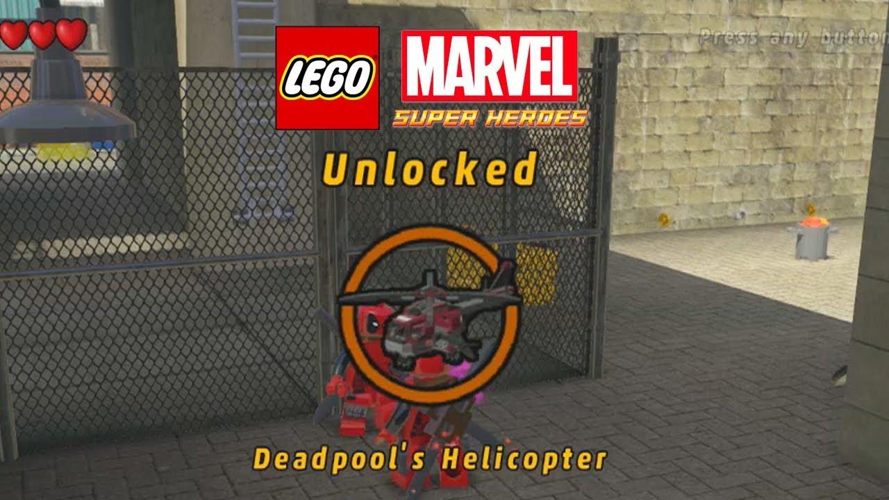 marvel lego unlock deadpool