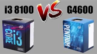 i3 8100 vs Pentium G4600