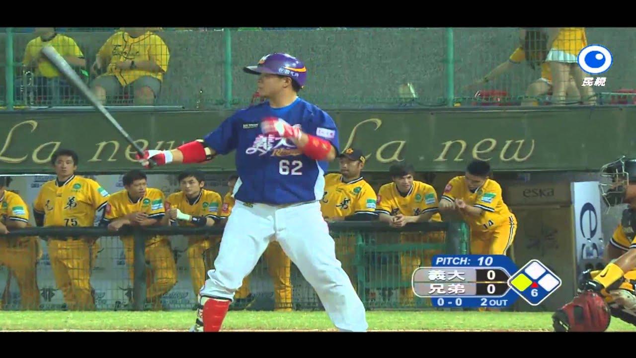 20131108 亞洲職棒大賽熱身賽 義大犀牛 vs. 兄弟象 - YouTube