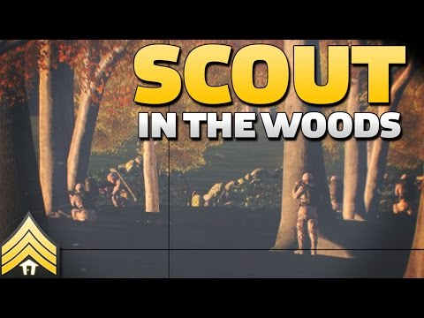 Scout in the woods - Arma 3 Reconnaissance