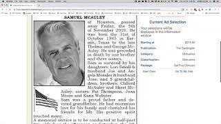 Self Service Obituaries Training with Media News Group ~ NY