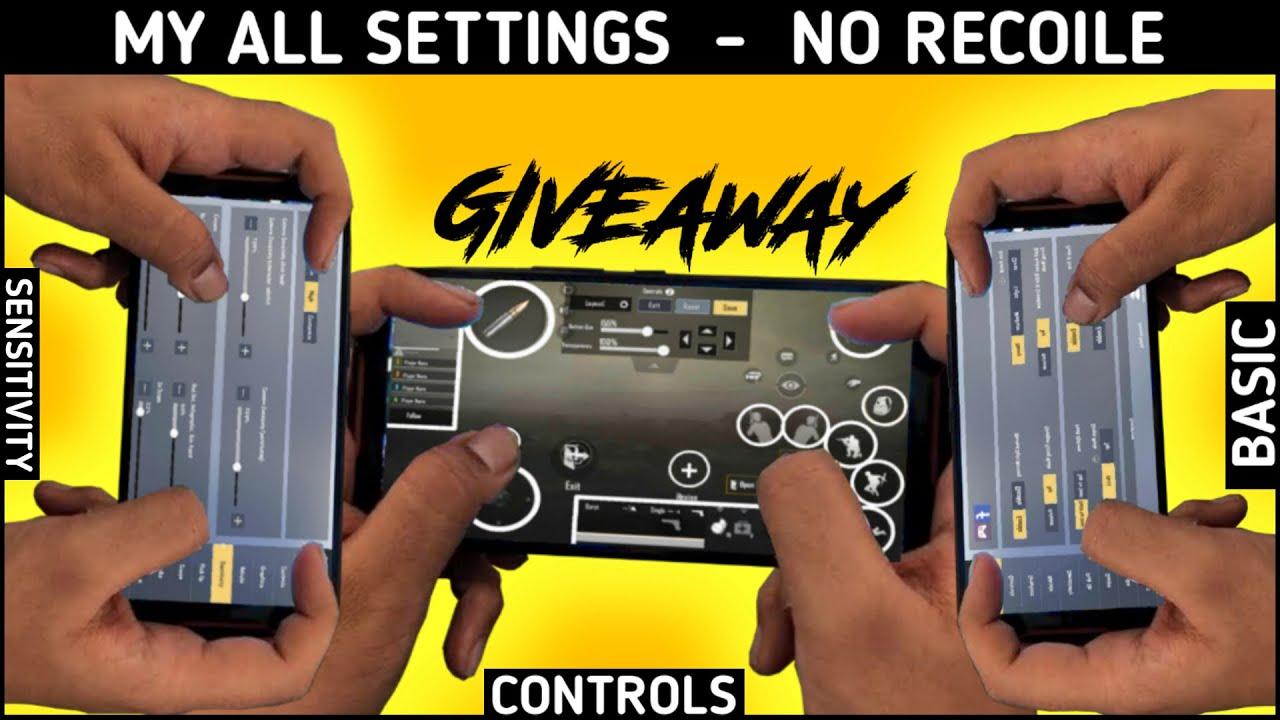 No-Recoil Controls , Basic Settings And Sensitivity | Best 4 Controls | Pubg Lite Pro Settings