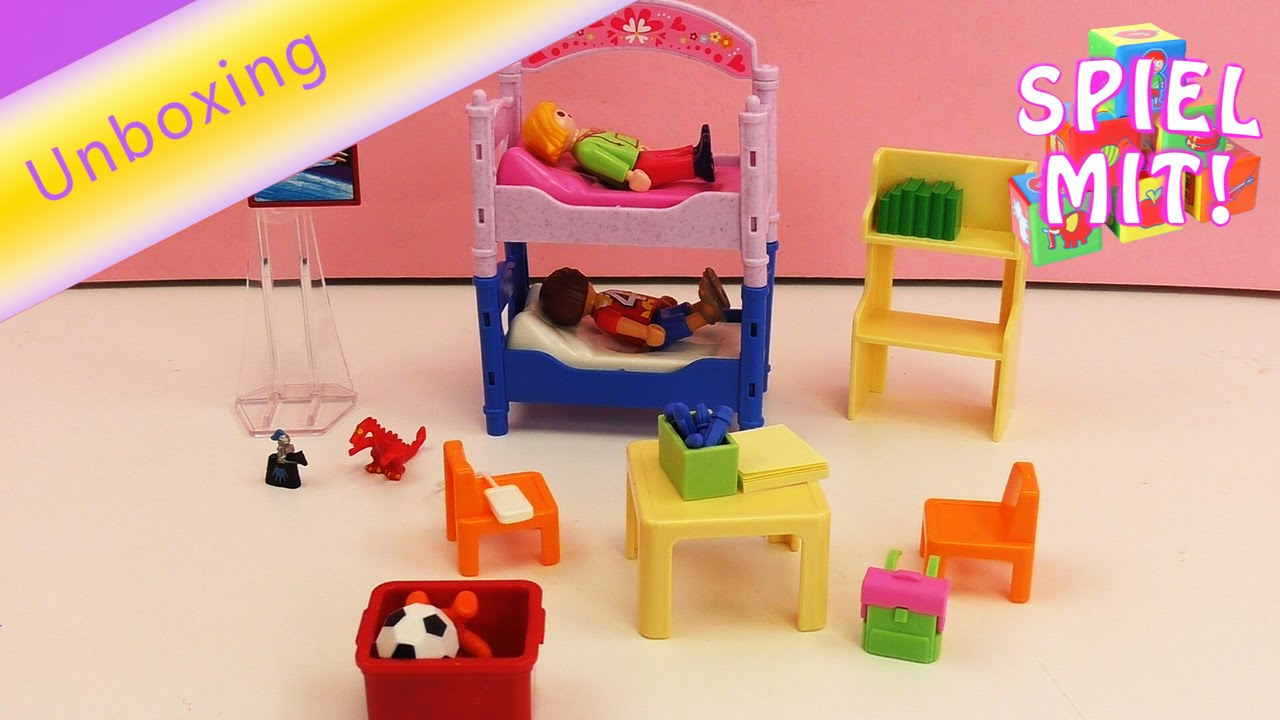 Playmobil Buntes Kinderzimmer 5306 Dollhouse Unboxing und Demo ...