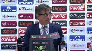 Rueda de prensa de Fernando Vázquez tras el Córdoba CF vs RCD Mallorca (0-2)