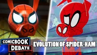 Evolution of Spider-Ham in All Media in 6 Minutes (2018)