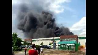 Пожар в Гомеле в Советском районе (бывшая Эмальпосуда)16.05.2014