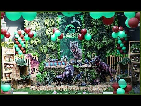 jurassic world dinosaurs theme party decor ideas in Pakistan | Best Birthday Planners Pakistan