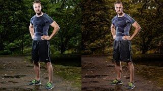 Sportler Portrait mit Aufsteckblitzen (Calvinstyle)