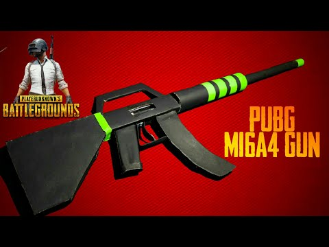 How to make PUBG guns with only paper| m16a4 gun pubg mobile | The creative ideas