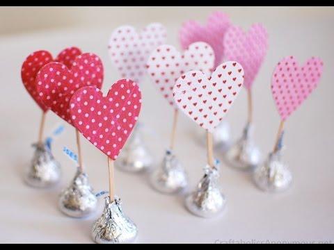 Manualidades para san valent n corazones de kisses de - Como hacer adornos de san valentin ...