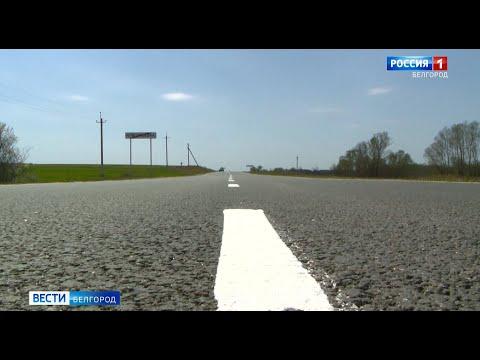 На дорогах Белгородской области обновляют разметку