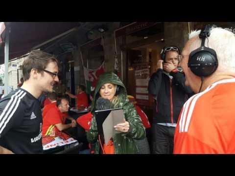 BBC Radio Wales Fan Interview - Wales vs Belgium