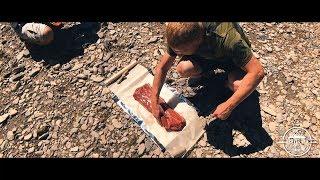 Говядина в соли. Мясо на углях. Кавказ