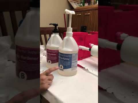 Using pumps with Pro Marine Supplies Table Top Epoxy - Part 1 of 3