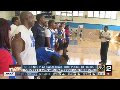 Police shoot hoops with Patterson High students
