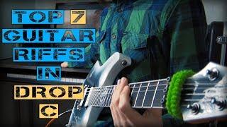Top 7 guitar riffs in Drop C tuning DAFCGC