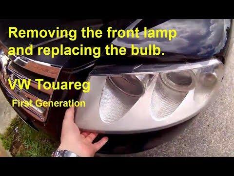 2008 vw touareg headlight removal