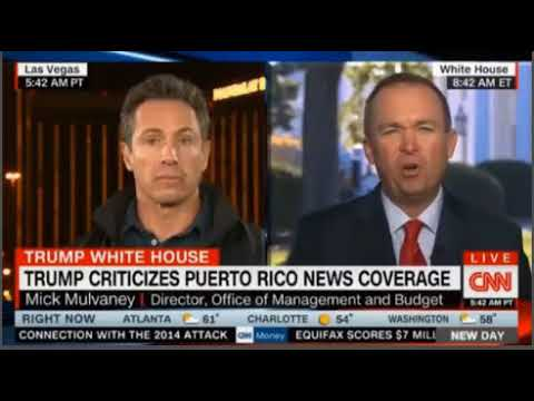 """Chris Cuomo CNN in a heated interview asks Mick Mulvaney """"How are we Fake?"""" as charged by Trump"""
