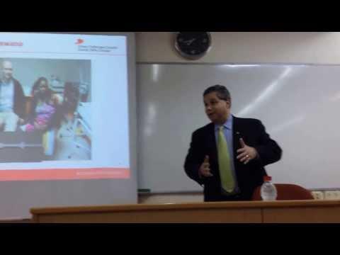 Dr. Peter Singer, CEO of Grand Challenges Canada, speaks at Tel Aviv University