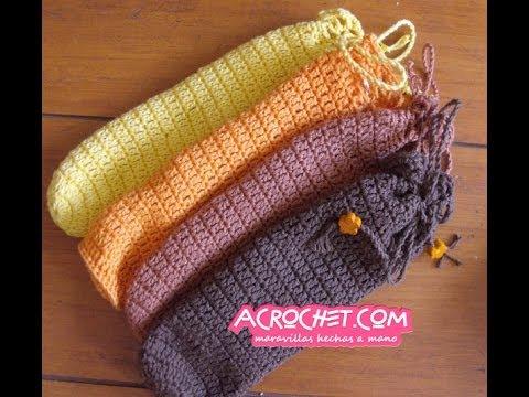 Como tejer una funda para los lentes en crochet youtube - Como alicatar una pared ...